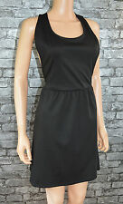 Women's Little Black Pinafore Open Back Style Dress Party Club Layer UK Size 8