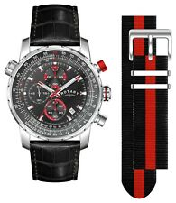 Rotary Men's Interchangeable Leather Strap Chronograph Analogue Watch