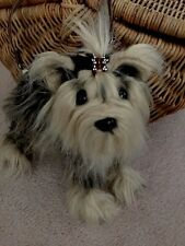 Adorable,rare Fuzzy Nation 'Love on a leash' Yorkie' Puppy Purse Handbag