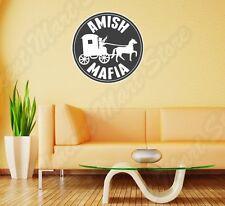 """Amish Mafia Funny Wall Sticker Room Interior Decor 22""""X22"""""""