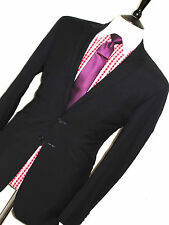 MENS SPENCER HARTS SAVILE ROW FORMAL/ BUSINESS NAVY/ BLACK SUIT 42R W36 X L29