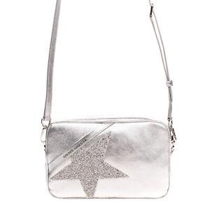 RRP €490 GOLDEN GOOSE DELUXE BRAND Leather Crossbody Bag Rhinestones Star Zipped