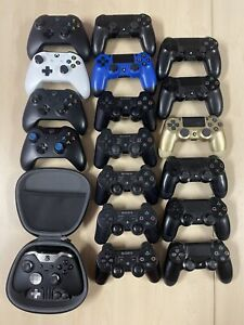 LOT OF *BROKEN/AS IS/FOR PARTS* PS3, PS4, XBOX ONE CONTROLLERS ELITE