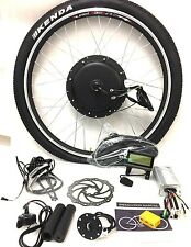 "26"" wheel 48v 1500W front wheel electric bike conversion kit with KT LCD3"