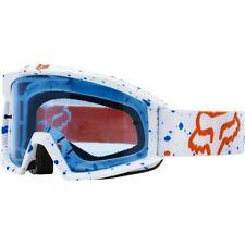 Maschera Fox Main Mx Goggles Nirv White Blue Bianco Blu Cross Enduro DH