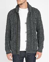 Vtg Denim Supply Ralph Lauren Cable Chunky Shawl Knit Full Zip Sweater Cardigan