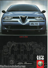 Alfa Romeo 156 Selespeed Q System 2.0 Ts 2.5 V6 1999 8 Page Mint Condition
