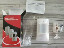 Wireless PIR Wireless Dual Passive Infrared Detector Motion Sensor LED auto temp