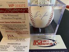 RONALD ACUNA JR. Signed MLB Baseball JSA COA w/ Case Atlanta Braves Auto
