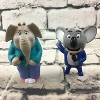 SING Figures Lot Of 2 Buster Moon Meena McDonald's Happy Meal Toys -No Sounds