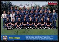 Kicker Mannschaftsbild Union Solingen 1982-83 16x Original Signiert  # G 31763