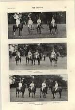 Los equipos de polo 1895 España Francia Ranelagh caída Torpedo net Cutlass ejercicio