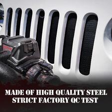 Black Stainless Steel Mesh Insert For Jeep Wrangler Rubicon Sahara JK JKU USA