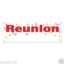 """REUNION Family School Party Event Decoration REUNION SIGN BANNER 60"""" x 21"""""""