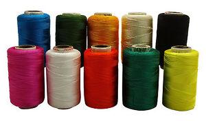 Silk Thread 10 Pcs Roll Multicolor Quilting Machine Stitching Spool