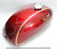 NORTON COMMANDO INTERSTATE 750 850 MKII STEEL GAS FUEL TANK RED PAINTED