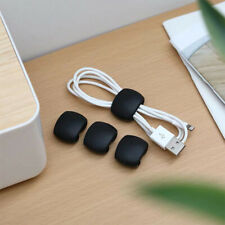 Cable Winder Earphone Cable Organizer Wire Storage Silicon Charger Holder  Clip