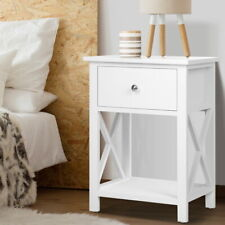 Artiss Bedside Tables Drawers Side Table White Lamp Nightstand Storage Cabinet