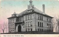 C84/ New Richland Minnesota Mn Postcard 1913 High School Building