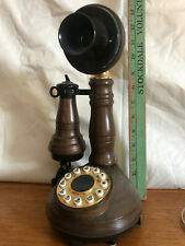 Vintage Candlestick Telephone American Telecommunications Corporation Brown