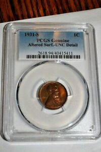 #A2500,Lincoln PCGS Unc 1931 S Penny