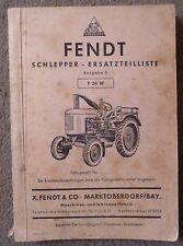 Fendt Dieselross F 24 W Ersatzteilliste