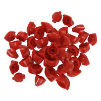 Pack of 60pcs Chicken Head Knobs Guitar Amp Knobs Effects Pedal Knobs Red Color