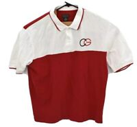 COOGI Australia Mens Polo Short Sleeve Rugby Shirt Sz 3XL Red White CG Spellout