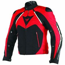 NEW Dainese Hawker D-Dry Mens Motorcycle Jacket Black/Red/White 58 Euro XL US 48