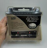 VINTAGE HIGH POWER AM-FM CASSETTE CAR RADIO W/FRONT PANEL AUX INPUT - CAR STEREO