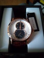 Lucien Piccard Men's Rose Gold Case Brown Strap Watch