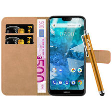 For Nokia 7.1 Phone Case, Leather Wallet Flip Book Stand View Card Holder Cover