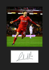 Adam Lallana - Liverpool Signed Photo A5 Mounted Print - FREE DELIVERY