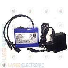 Batteria a Litio Ricaricabile 3.7V 4.0AH Ampere con Caricabatteria 220V>4.2V