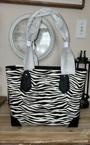 Michael Kors Eva Small Top Zip Tote Handbag Black/Multi NWT $128