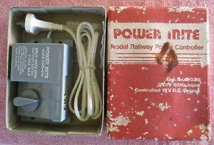 Power Mite Model Train Railway Transformer & Controller 12v DC for HO OO N O use