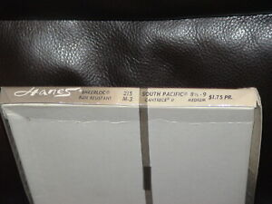 3PR Box 15Den Hanes 215 Nude Heel Cantrece ll Nylon Stockings Sz8.5-9M S Pacific