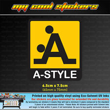 A-Style Vinyl Sticker Decal, 4X4 Ute Car Truck JDM Toolbox Hardhat Bumper