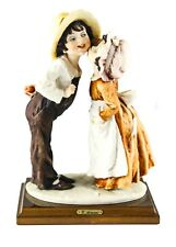 Florence Italian Giuseppe Armani Girl And Boy Sharing A Kiss Statue