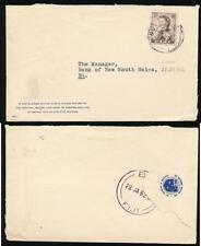 FIJI 1962 PRINTED MATTER RATE INTERNAL NATIONAL MUTUAL LIFE ASSN.ENVELOPE
