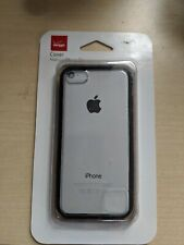 Verizon iPhone 5C Hard Shell Shockproof Snap Cover Case Clear w/Black Edge