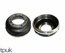 A PAIR OF FORD TRANSIT BRAKE DRUMS 2.4 RWD 2000 - 2006 DOUBLE REAR WHEEL 6 STUD