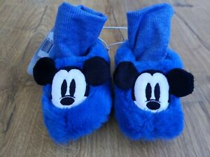 (#f5) BNWT DISNEY Mickey Mouse Slippers UK 5 EUR 22 ❤️ Benefits Charity ❤️