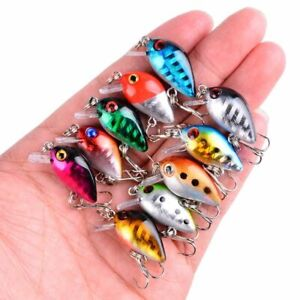 UL Fishing Lure Set Top Water Crankbaits Micro Hard Artificial Baits Wobbler