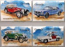 GRENADA 1993 2697-00 Ford & Mercedes Benz Automobile Cars Autos 300 SL MNH