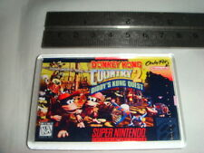 SUPER NINTENDO  GAME COVER FRIDGE MAGNET DONKEY KONG COUNTRY 2 DIDDY KONGS QUEST