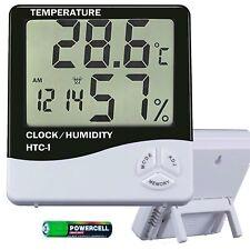 Digital LCD Hygrometer Thermometer Indoor Temperature Humidity Meter Alarm Clock
