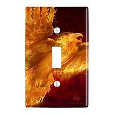 Phoenix Firebird Flaming Fire Bird Rising Fantasy Wall Light Switch Plate Cover