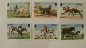 Stamps.Jersey 1996 Horses racing