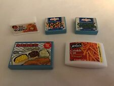 Barbie Tyco Kitchen Littles Frozen Foods Lot of 5 pcs. Waffles Fries Veggies